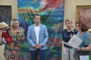 Wręczenie artystom listu gratulacyjnego od Prezydenta Olsztyna
