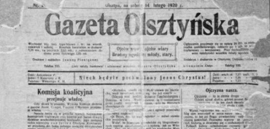 Gazeta Olsztyńska z 1920