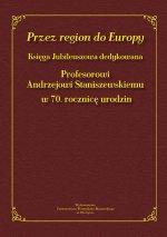 Okładka ksiązki pt. Przez region do Europy