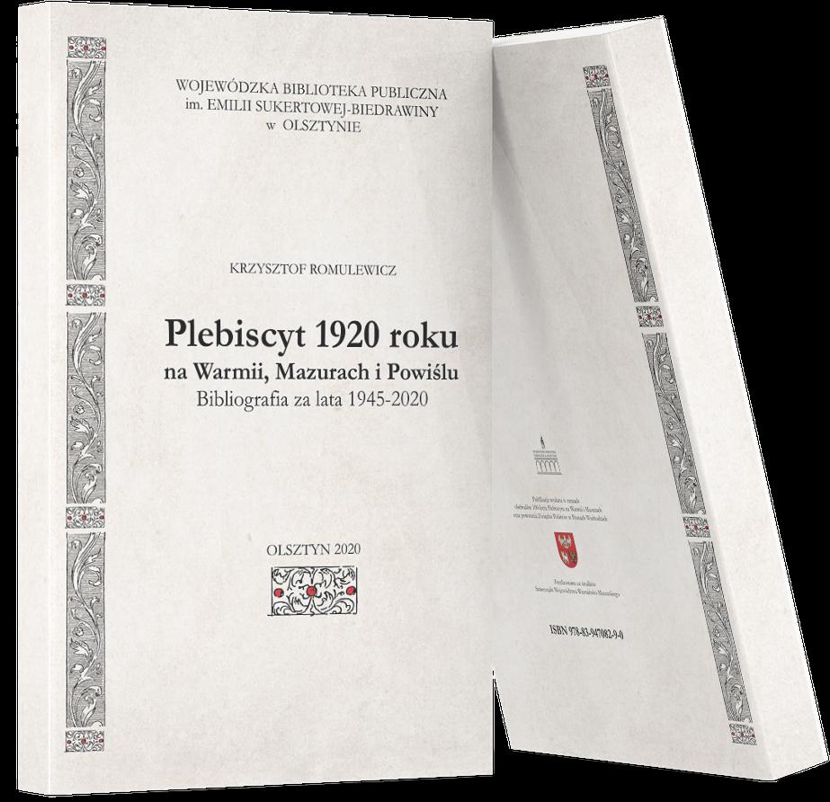okładka książki Krzysztofa Romulewicza Plebiscyt 1920 roku na Warmii, Mazurach i Powiślu