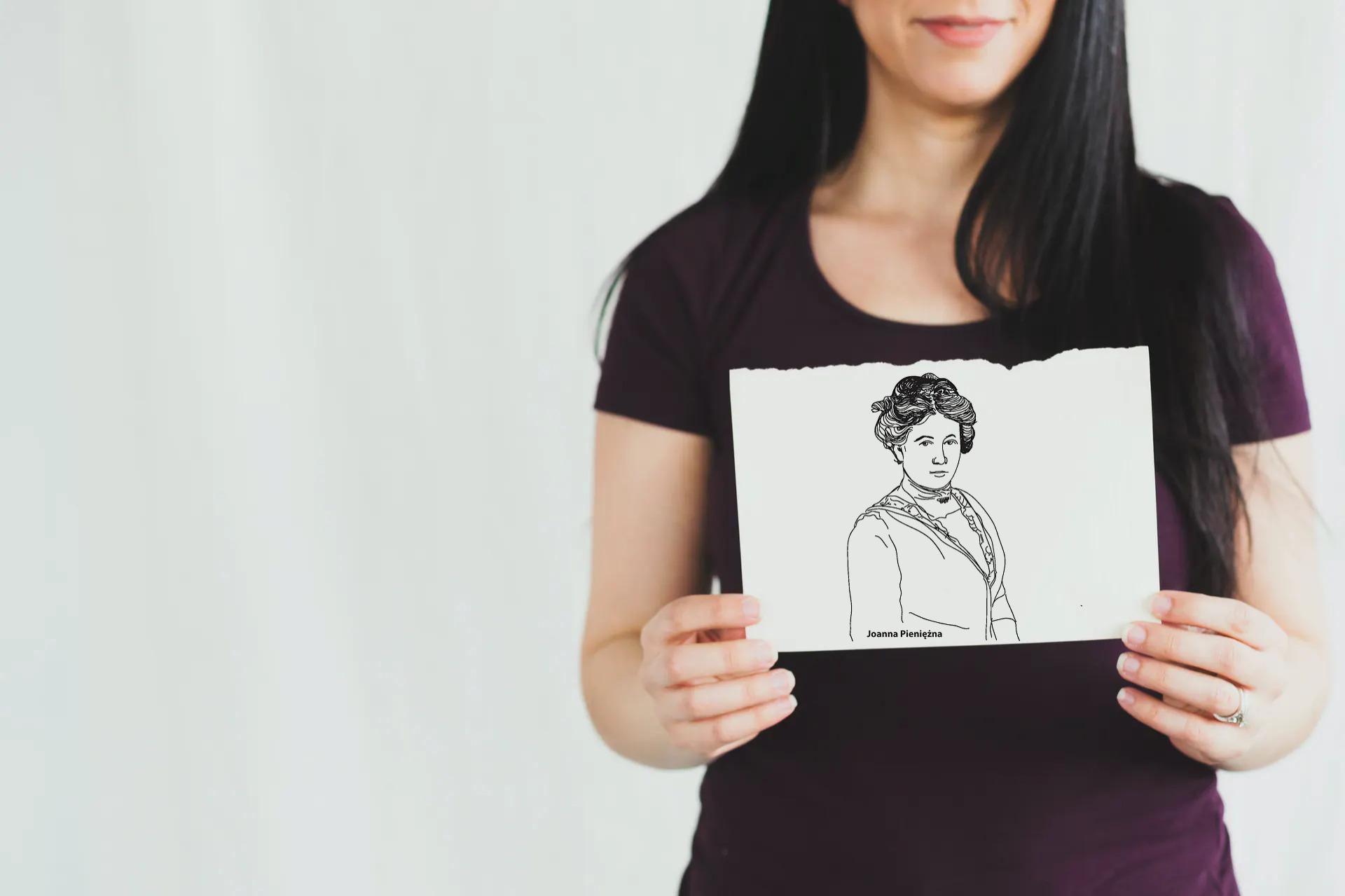 kobieta trzyna portret Joanny Pieniężnej
